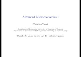 Advanced Microeconomics I - Studydrive