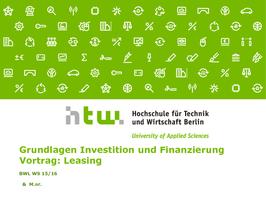 Investition/Finanzierung - Studydrive