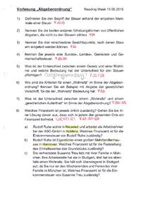 Steuern (Einkommensteuer) - Studydrive