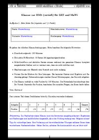 Höhere Mathematik 3 - Studydrive