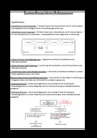 Internes Rechnungswesen Und Buchfü Studydrive