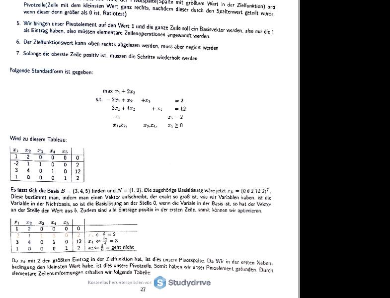 simplex Algorithmus Fazit.pdf - Kostenloser Download