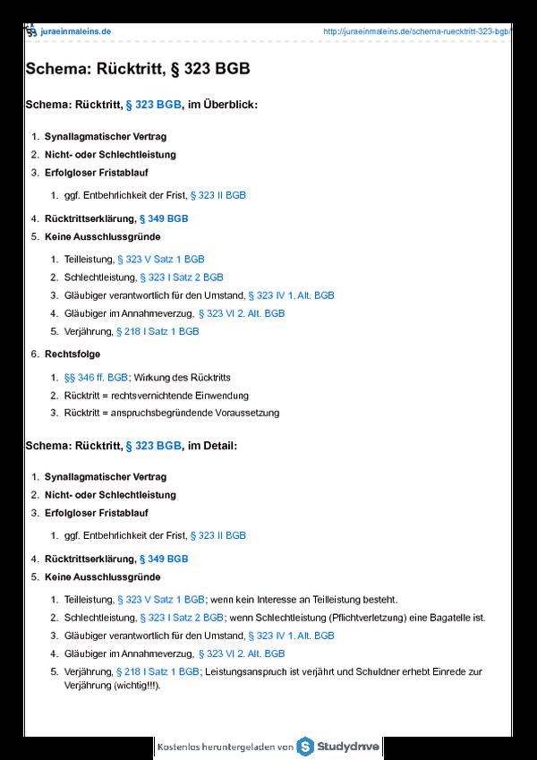 Schema Rücktritt 323 Bgbpdf Free Download
