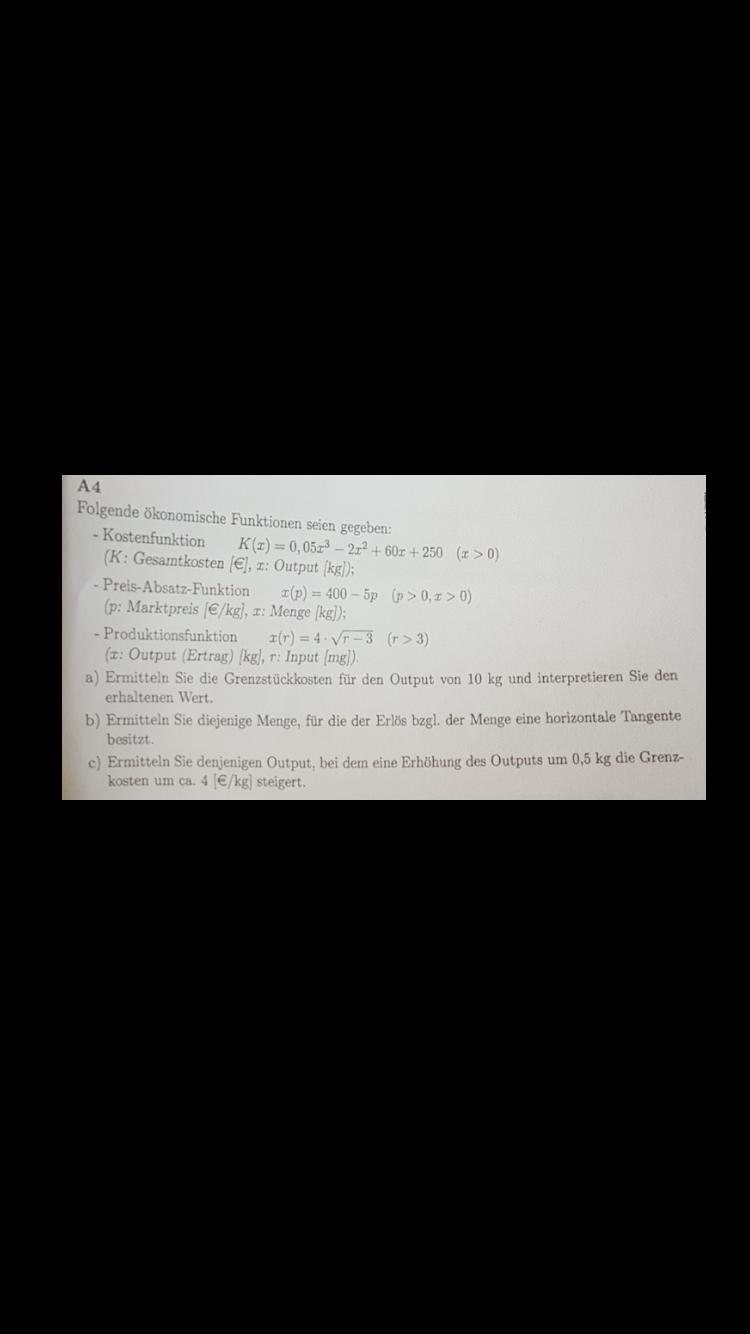 Wirtschaftsmathematik 1 und Statis... - Studydrive